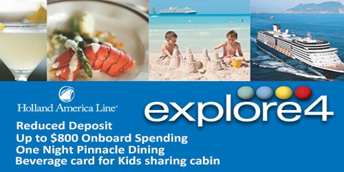 Free Onboard Extras - Holland America