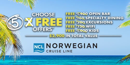 NCL Get 5 Free Offers