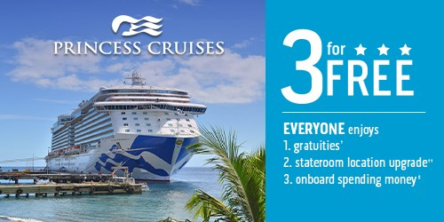 Princess Cruises FREE TIPS, FREE Onboard Credit