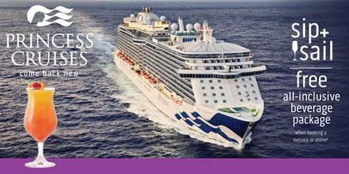 Princess Cruises Sip and Sail