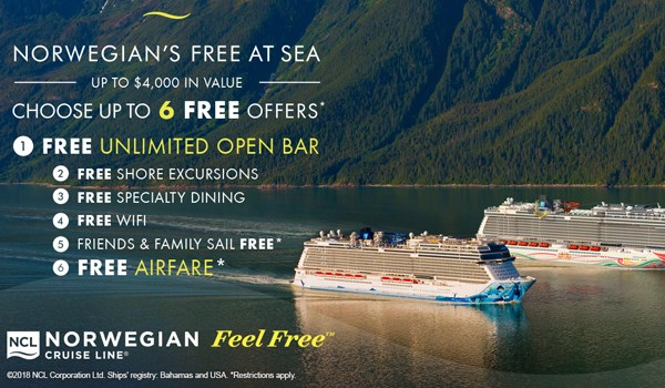 NCL's Free at Sea Offer