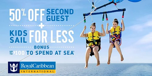 Royal Caribbean 50% Of Second Guest
