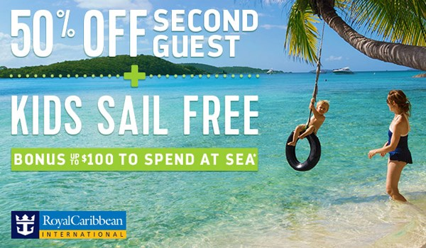 Royal Caribbean 50% Off Second Guest